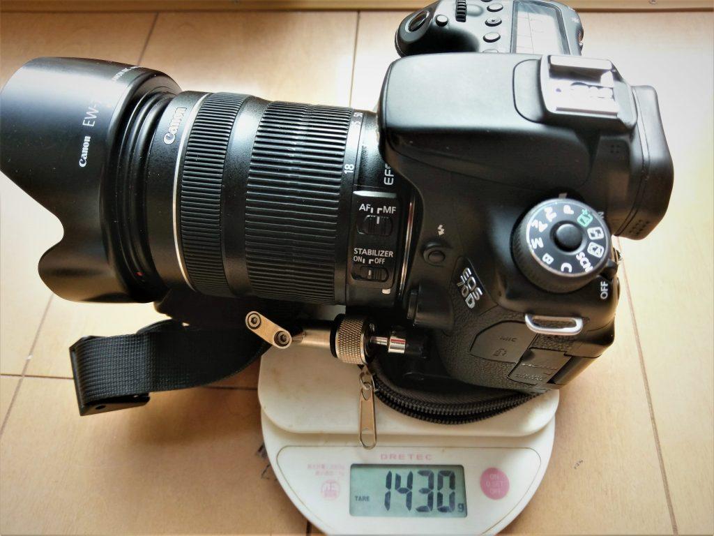 カメラ&レンズ重量計測