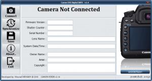 CanonEosDigitalInfo初期画面