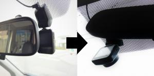 ドライブレコーダー運転席側⇒助手席側に変更