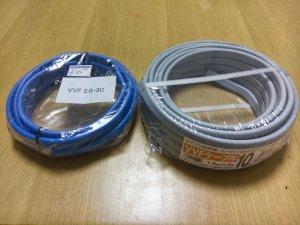 新品ケーブルとリサイクルショップ調達品