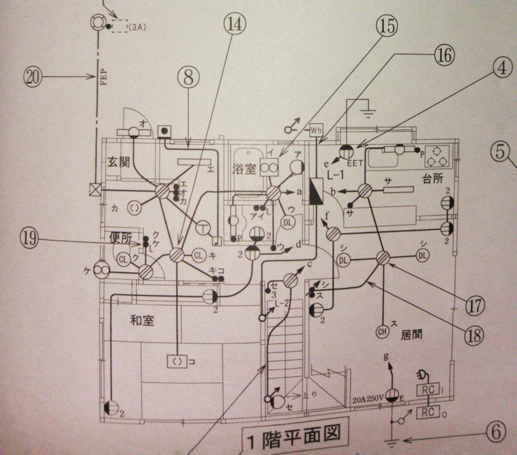 屋内配線図(単線図)