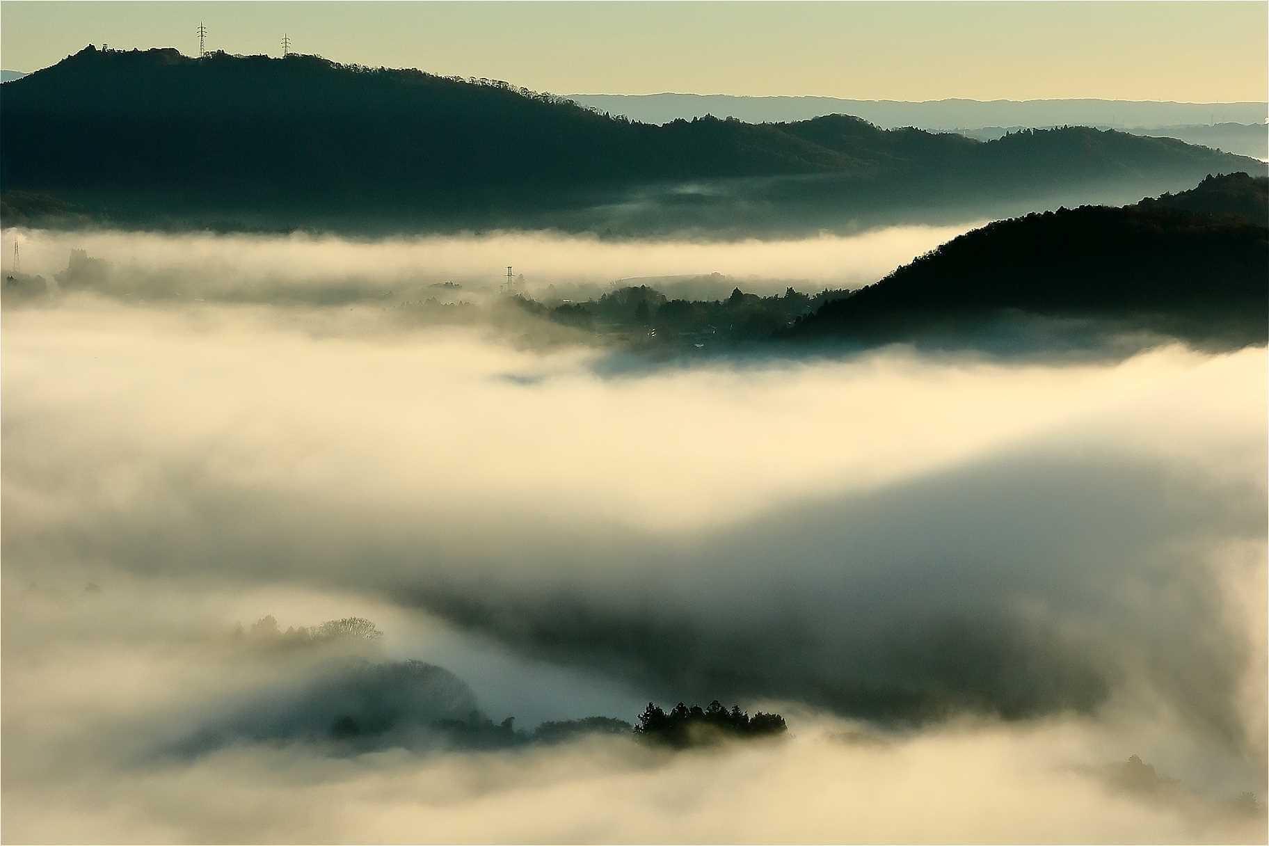 茂木町鎌倉山の雲海