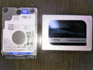2.5インチHDDとSSDの比較
